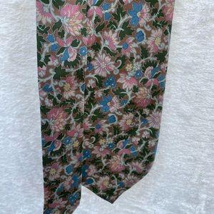 Burberrys Silk Floral Tie Vintage